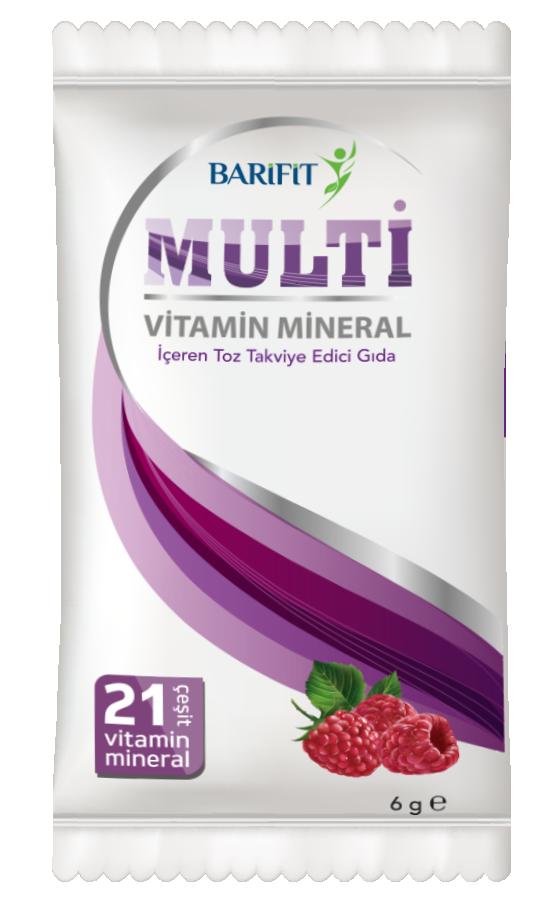 Barifit Ahududu Aromalı Vitamin ve Mineral İçeren Toz Takviye Edici Gıda